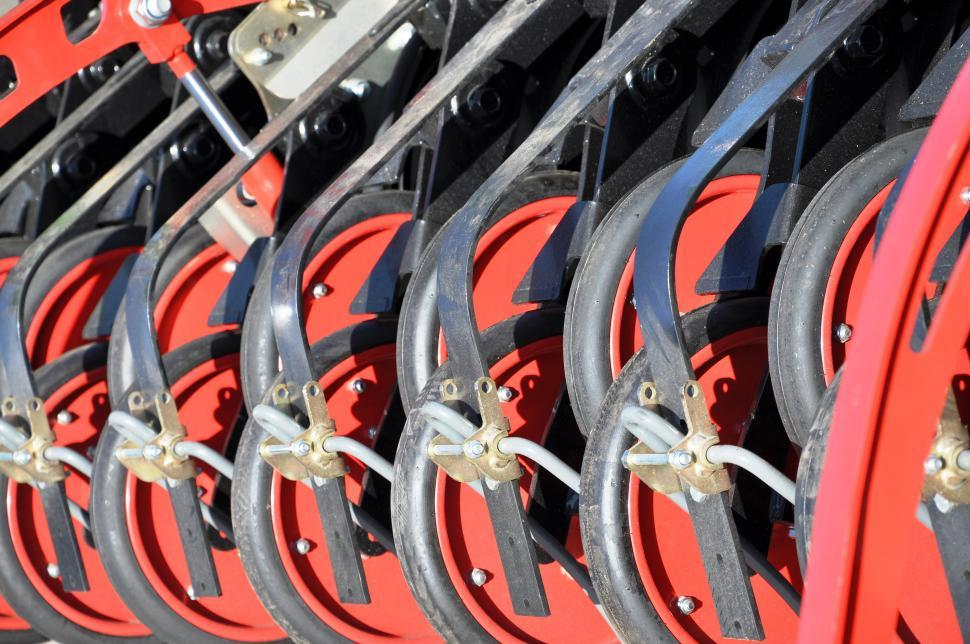 Download Free Stock Photo of Detail of seeding equipment
