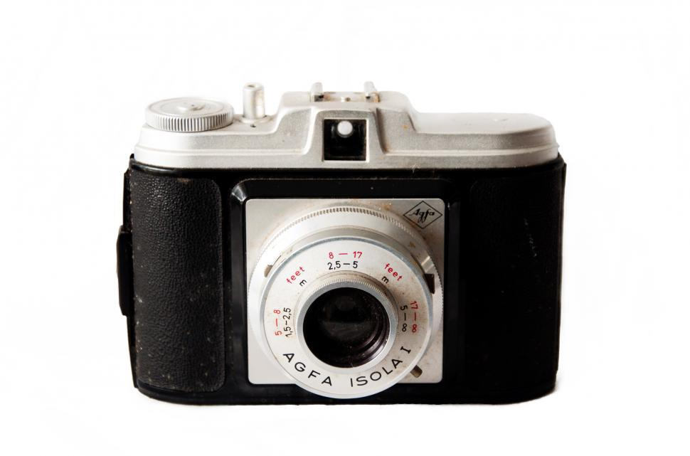 Download Free Stock HD Photo of Old vintage camera on white background Online