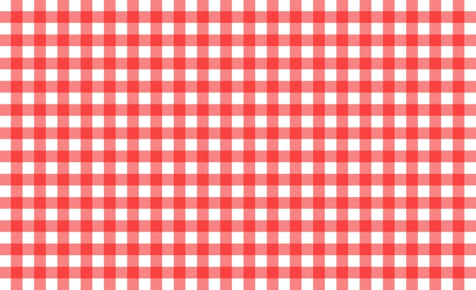 Download Free Stock Photo of Red and white tablecloth pattern