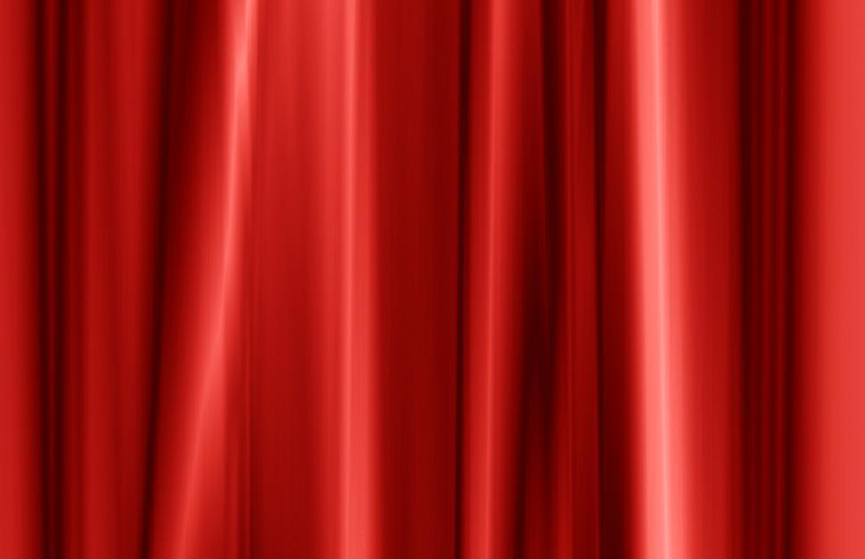 Download Free Stock Photo of Red curtain fabric texture