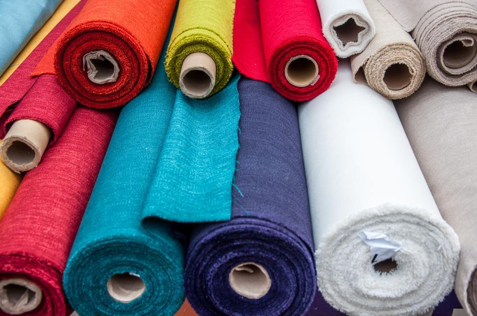 Download Free Stock HD Photo of Colorful fabric rolls Online