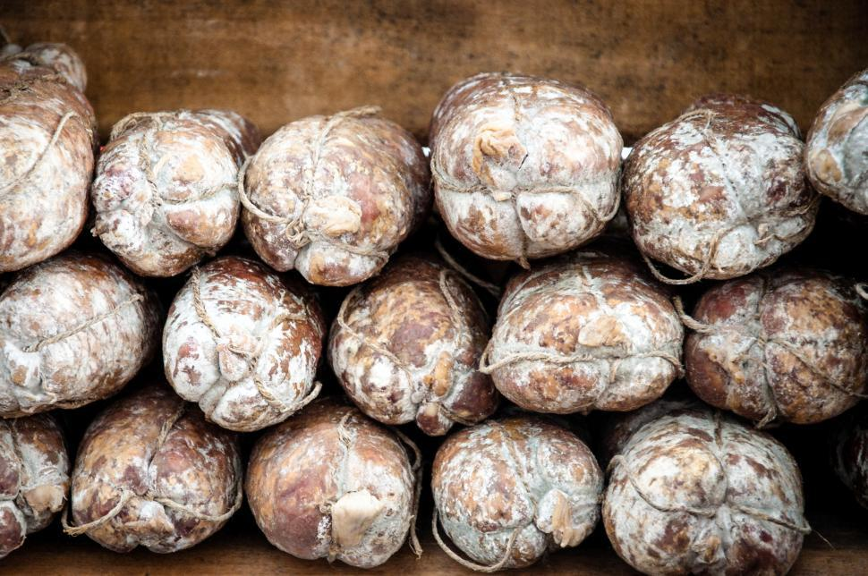 Download Free Stock Photo of Dried sausage