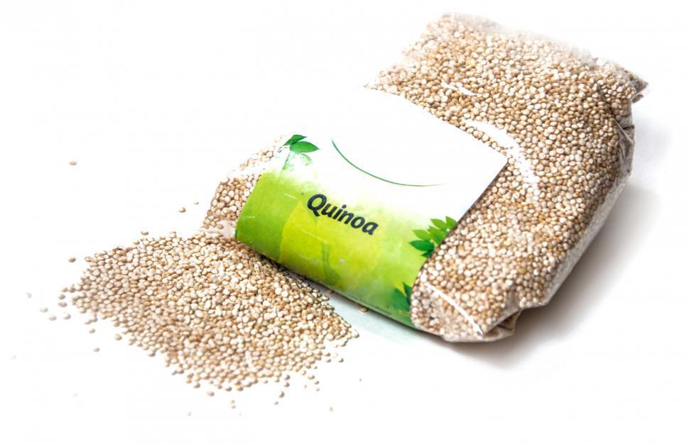 Download Free Stock Photo of quinoa grain on a white background