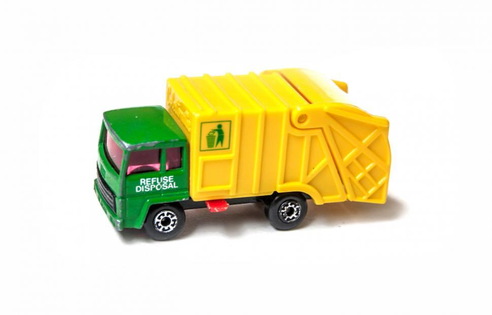 Download Free Stock HD Photo of Garbage truck toy car Online