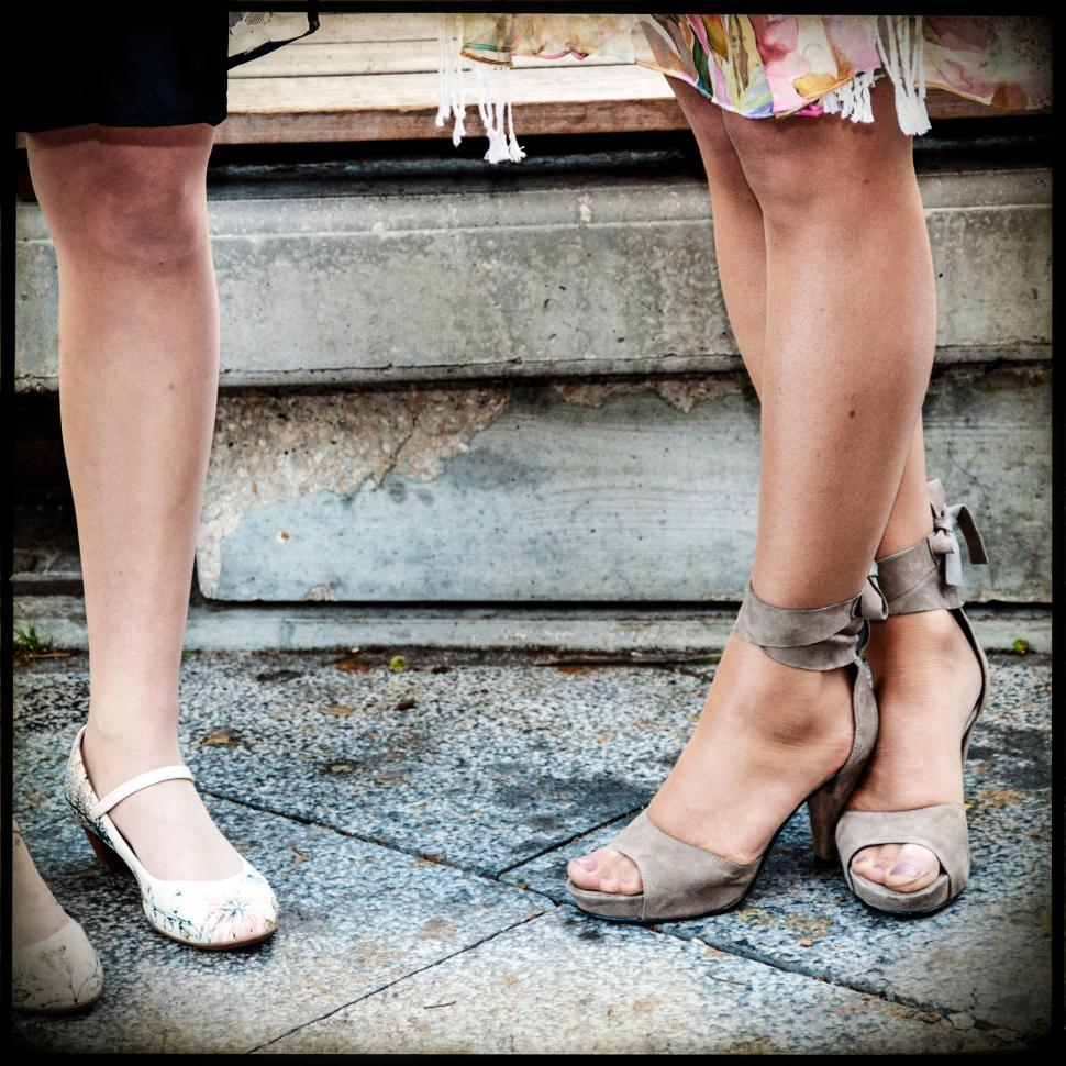 Download Free Stock Photo of Women legs and heels shoes