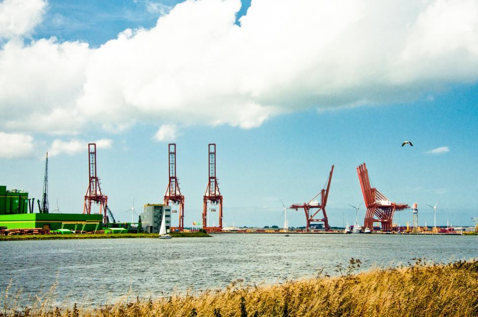 Download Free Stock HD Photo of industry and cranes Online