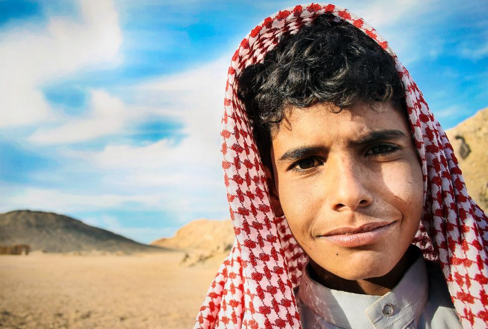 Download Free Stock Photo of Bedouin arabic child in Egypt