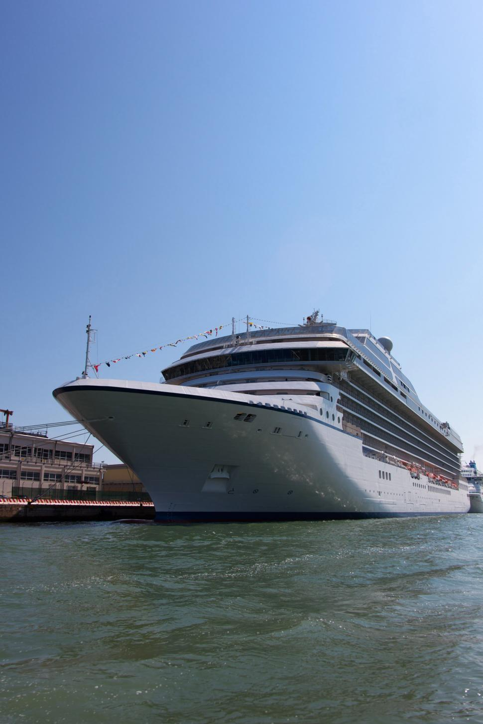 Download Free Stock HD Photo of Cruise ship in port - side view Online