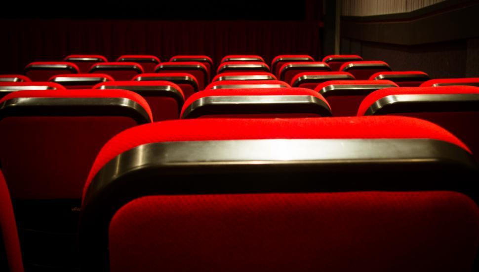 Download Free Stock HD Photo of Empty movie theater with red seats cinem Online