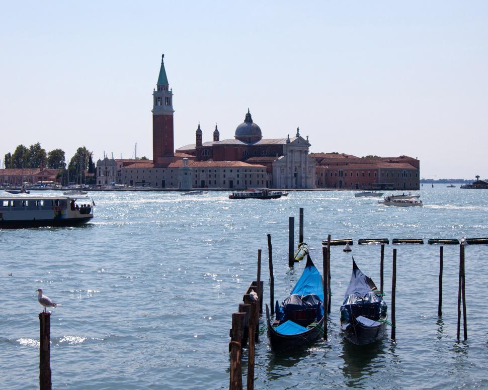 Download Free Stock HD Photo of  Maggiore and gondolas Online
