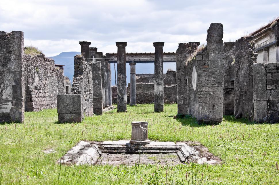 Download Free Stock Photo of ancient Roman city of Pompeii