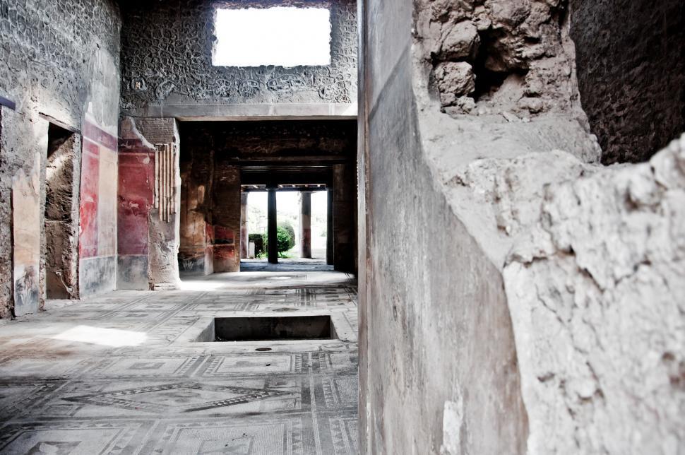 Download Free Stock Photo of Ruin ancient Roman city of Pompeii