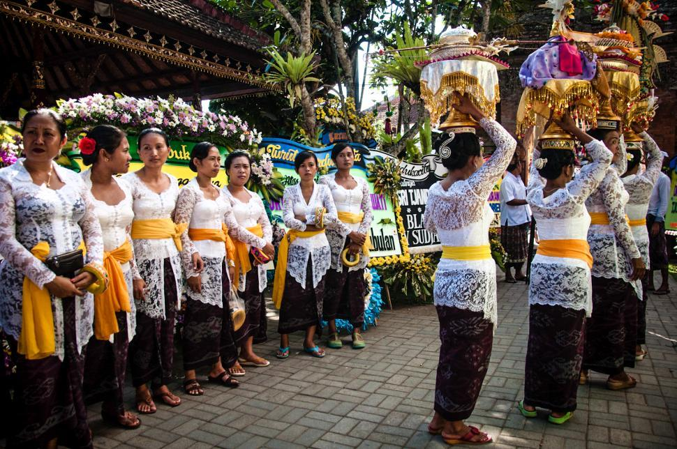 Download Free Stock HD Photo of Bali ceremony in temple Online