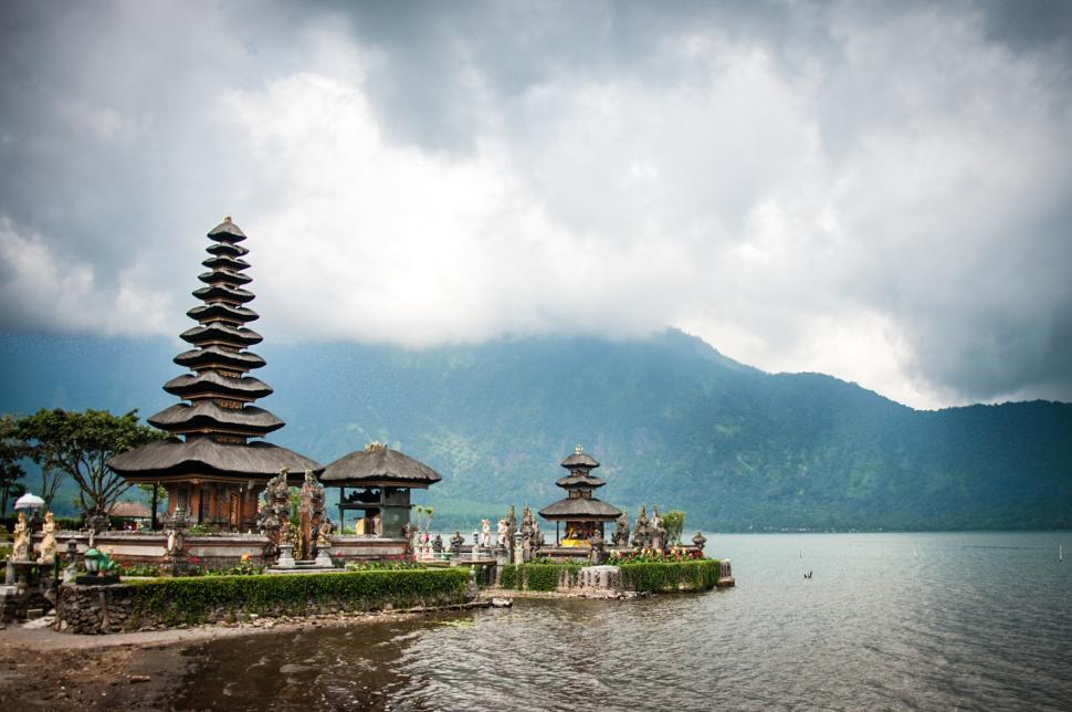 Download Free Stock HD Photo of Pura Ulun Danu temple in bali Online