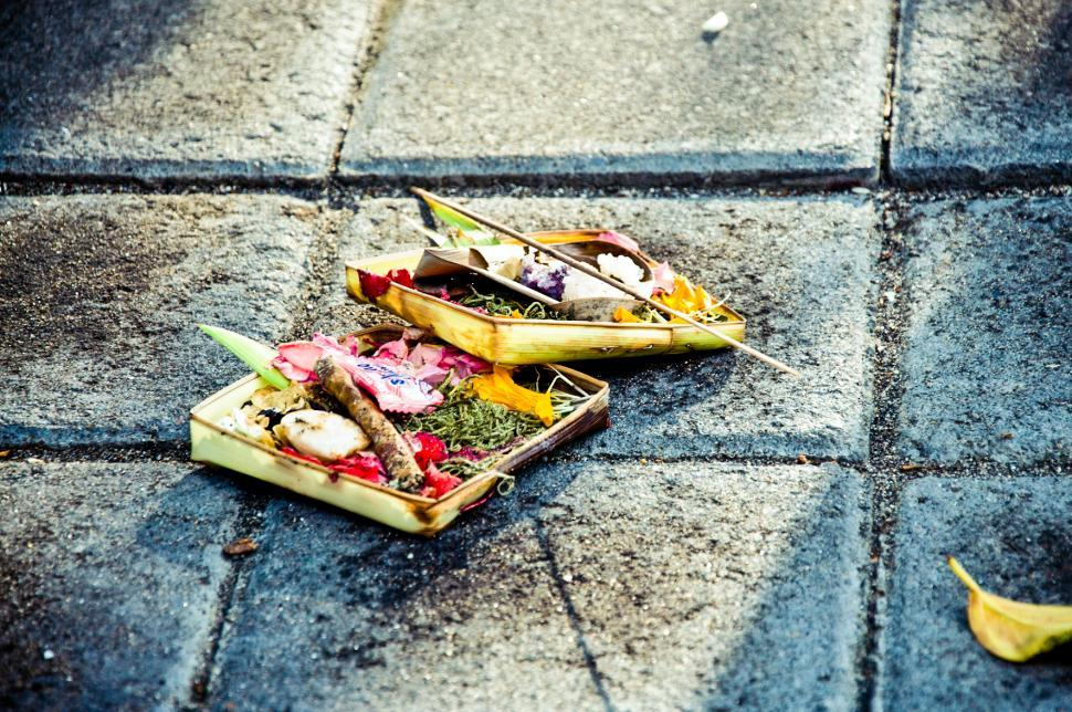 Download Free Stock Photo of Traditional balinese offerings to gods