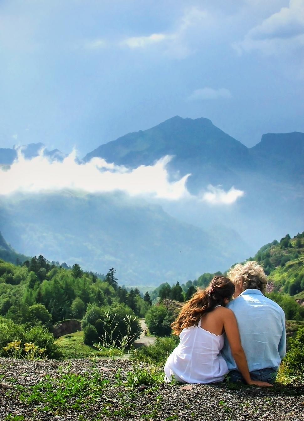 Download Free Stock Photo of Romantic couple enjoying the view