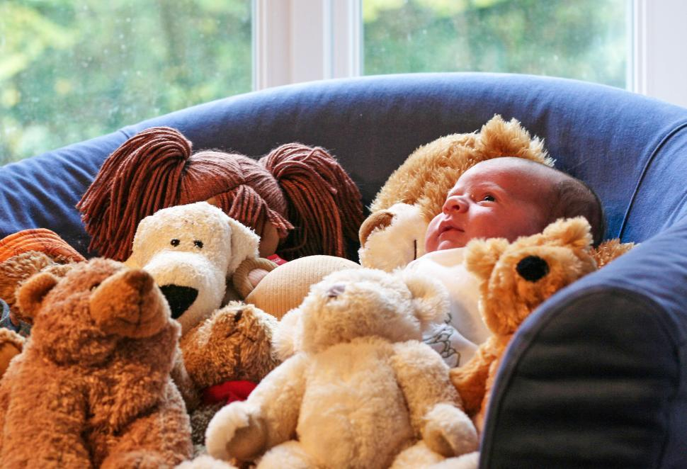 Download Free Stock HD Photo of Baby and teddy bears Online