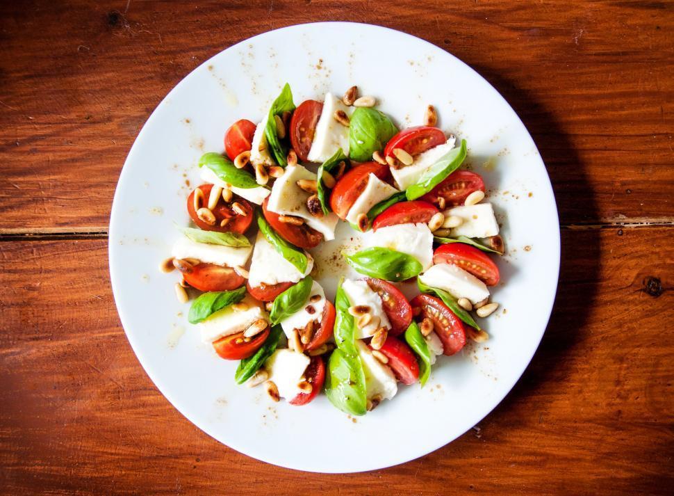 Download Free Stock Photo of caprese tomato mozzarella salad