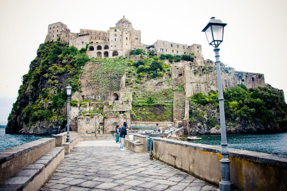 Download Free Stock HD Photo of medieval Aragonese castle, Ischia Online