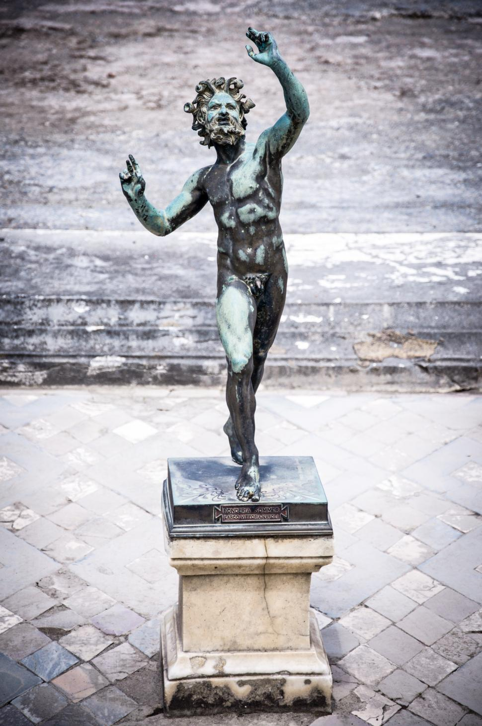 Download Free Stock Photo of Dancing Faun statue, House of the Faun