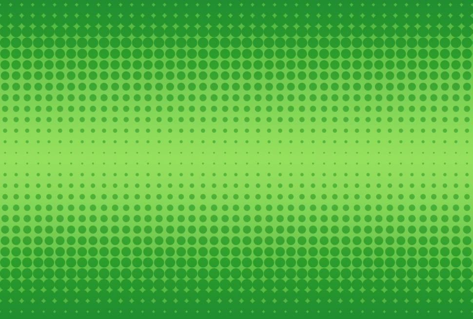 Download Free Stock Photo of Green halftone dots background