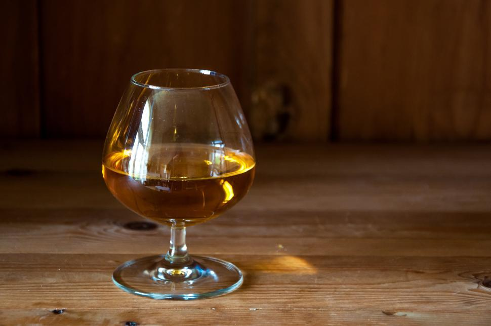 Download Free Stock HD Photo of Alcohol in round glass, Whisky, Brandy, Cognac Online