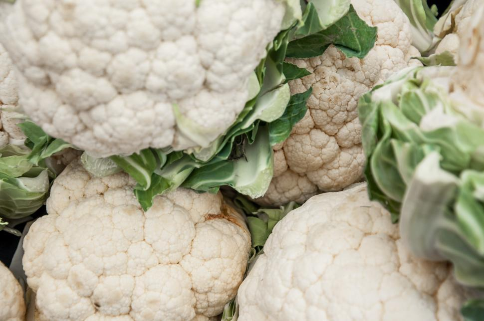 Download Free Stock HD Photo of Group of cauliflower Online