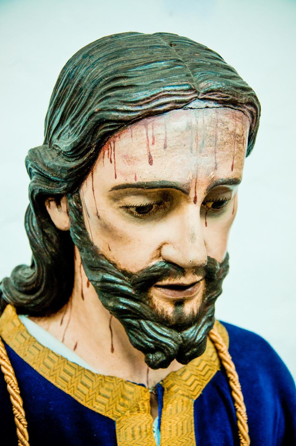 Download Free Stock Photo of Jesus head statue