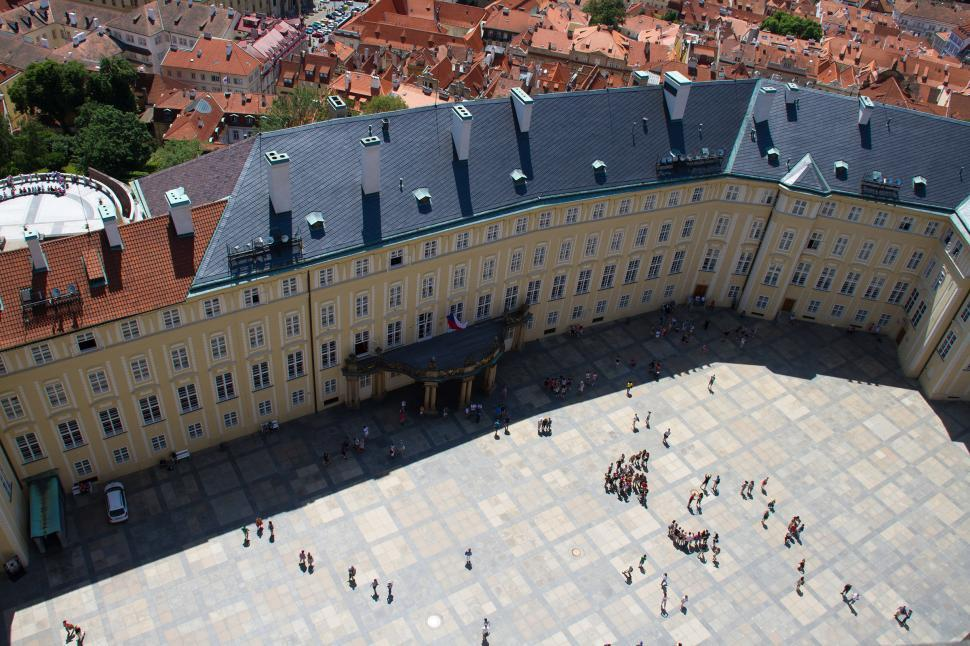 Download Free Stock Photo of Prague Castle Courtyard