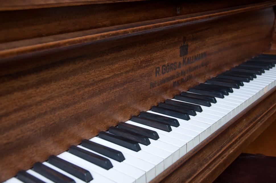 Download Free Stock HD Photo of Closeup of antique piano keys Online