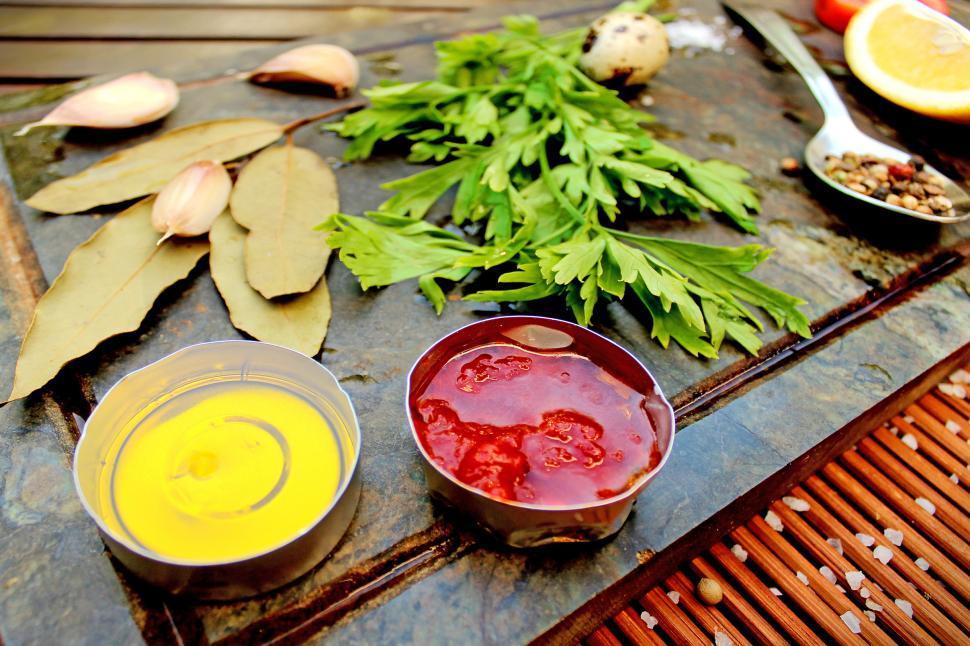Download Free Stock HD Photo of Basic ingredients for mediterranean diet Online