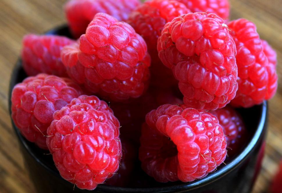 Download Free Stock Photo of Raspberries close-up