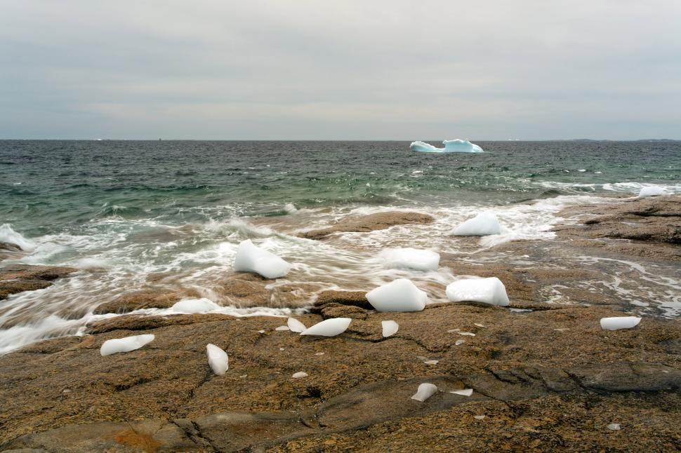Download Free Stock Photo of Iceberg and rock