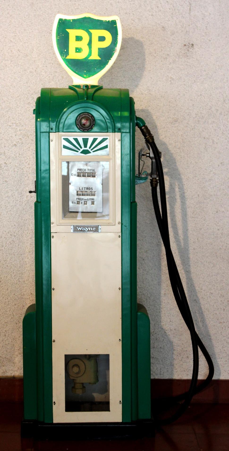 Download Free Stock Photo of Classic BP Fuel Pump