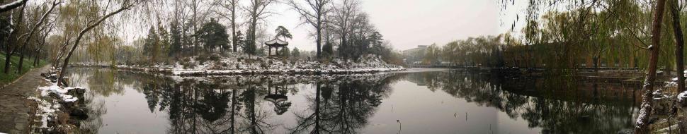 Download Free Stock Photo of Lake Panorama