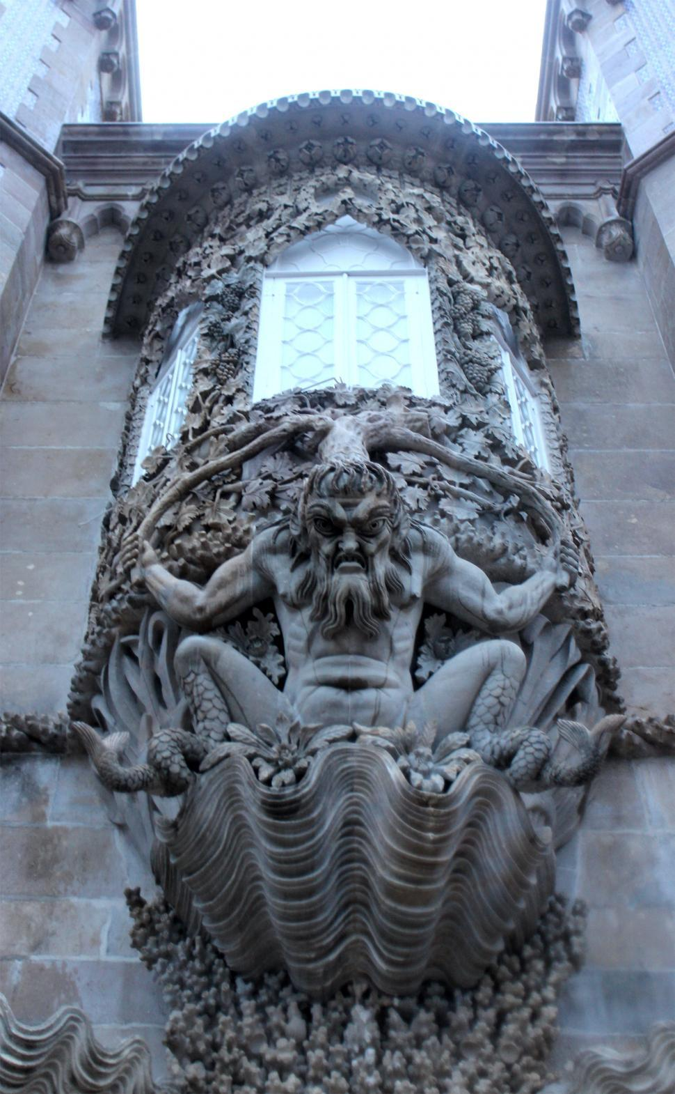 Download Free Stock HD Photo of Gargoyle in Pena National Palace Online