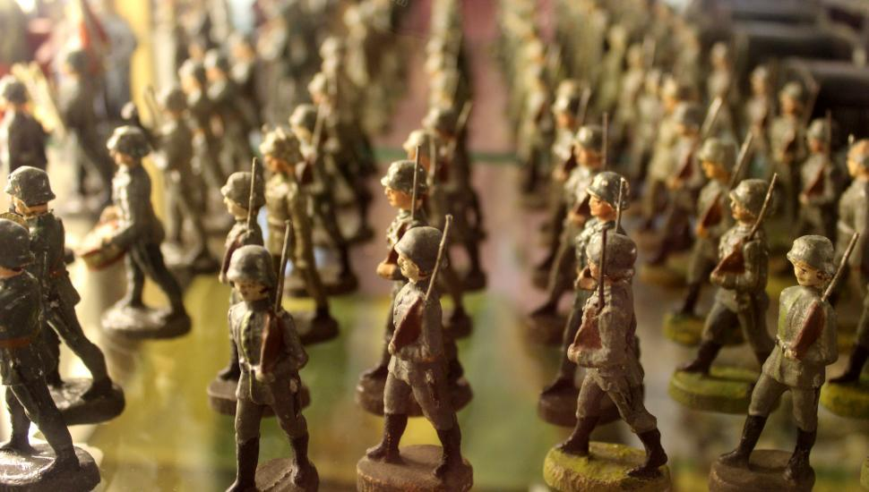 Download Free Stock HD Photo of Vintage Toys - Nazi Tin Soldiers Online