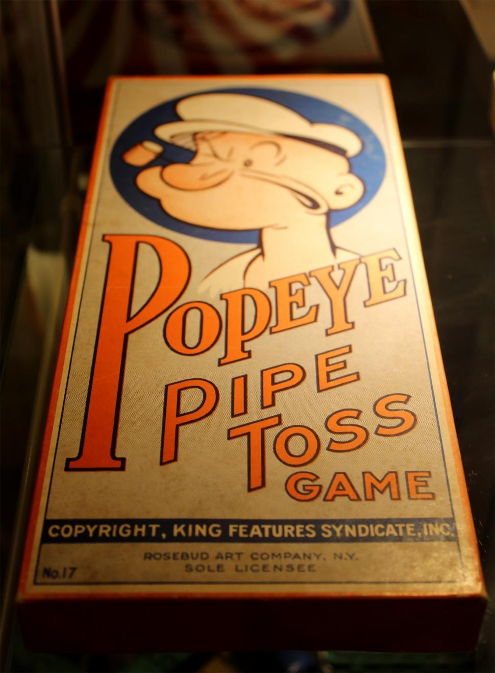 Download Free Stock HD Photo of Vintage Toys - Popeye Pipe Toss Game Online
