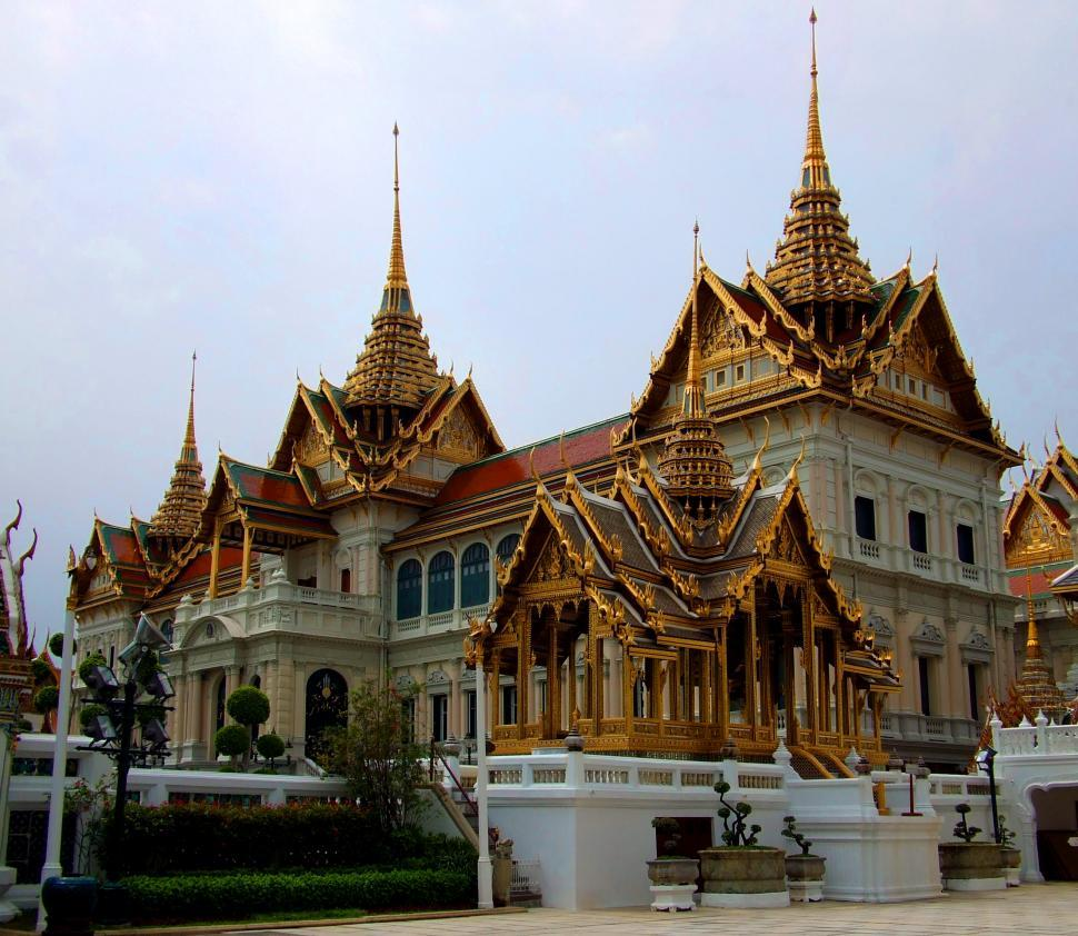 Download Free Stock Photo of Royal Grand Palace at Wat Phra Kaew temple - Thailand