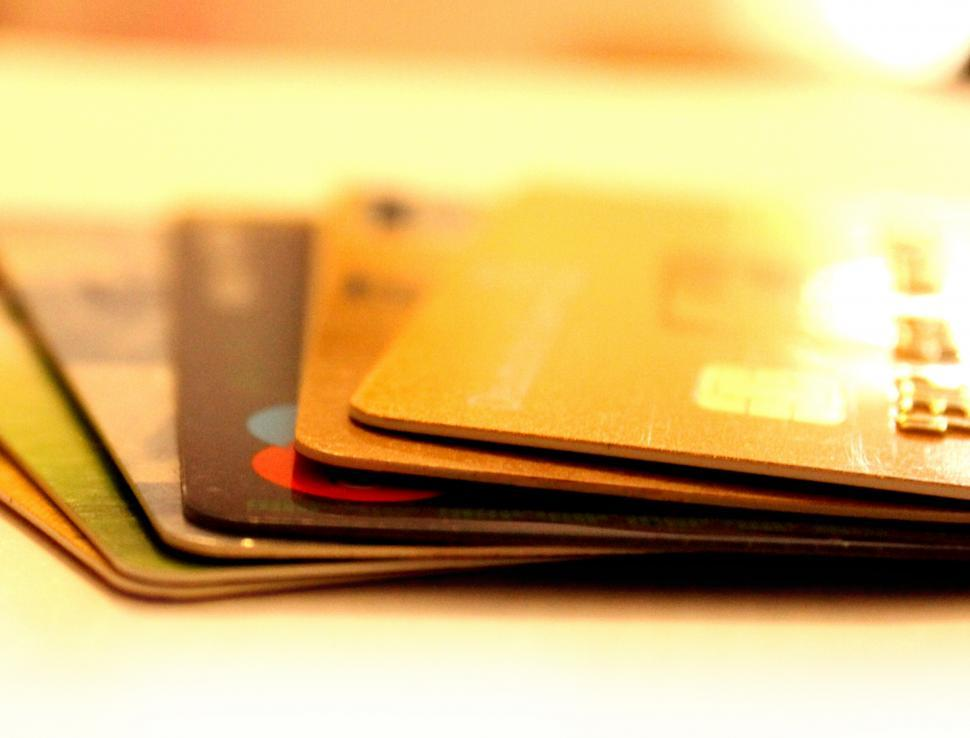 Download Free Stock Photo of Credit cards - stack