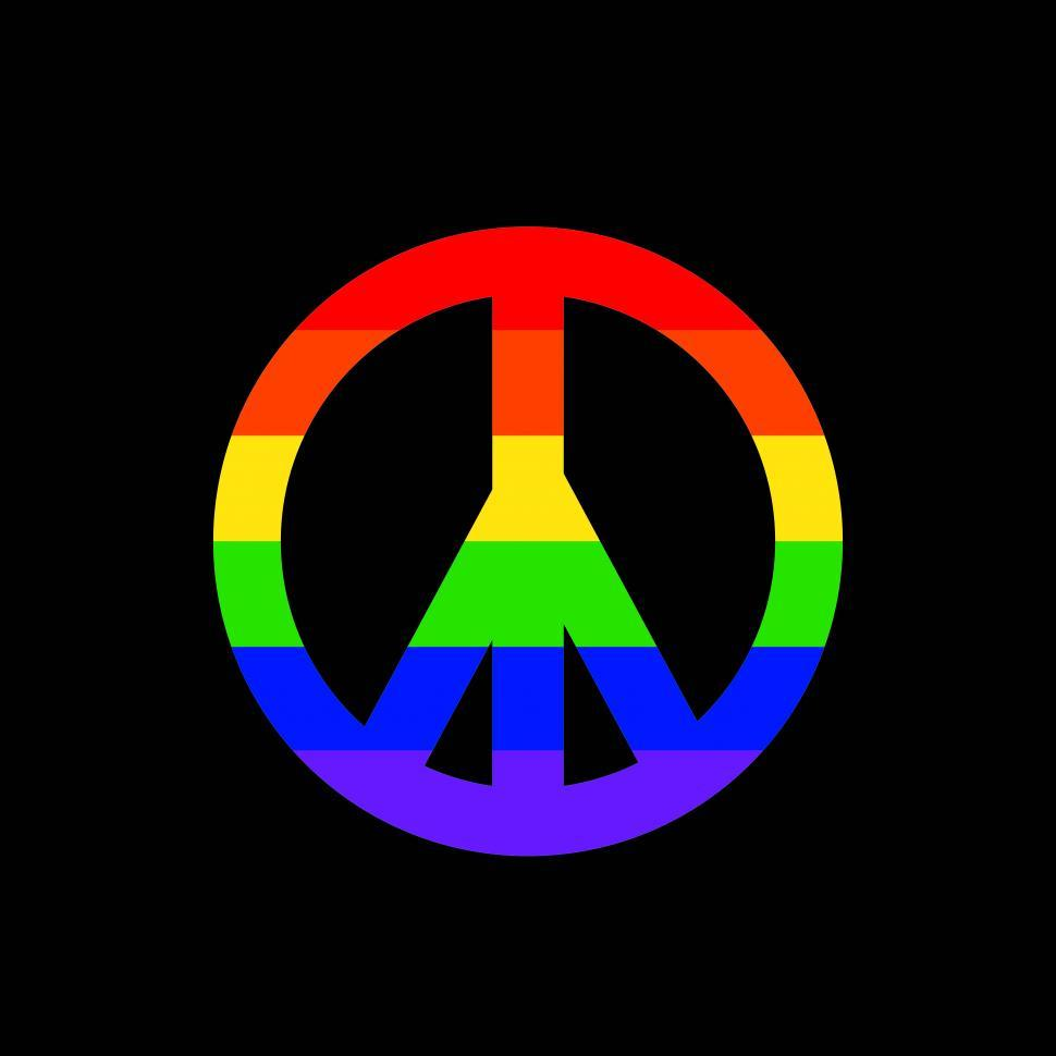 Download Free Stock Photo of Rainbow peace sign