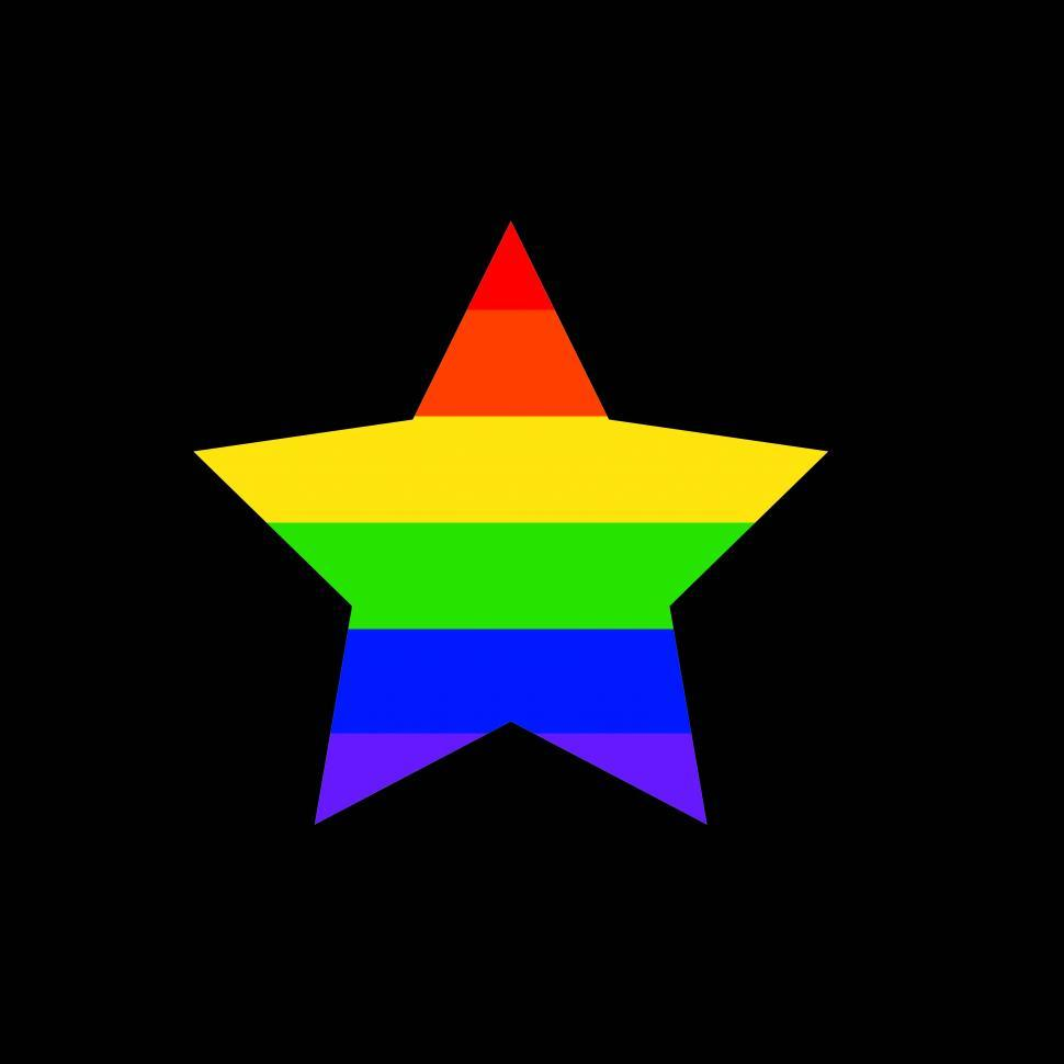 Download Free Stock Photo of Rainbow star