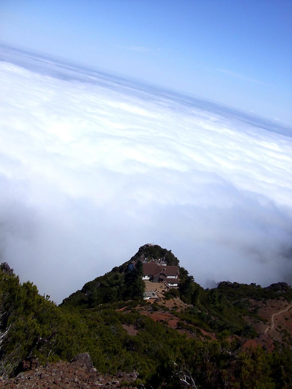 Download Free Stock Photo of Lodge in the high mountain above cloud level - Madeira Island vo