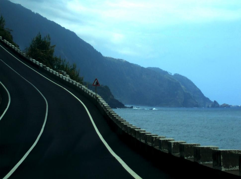 Download Free Stock Photo of Very steep road in Madeira Island - Portugal