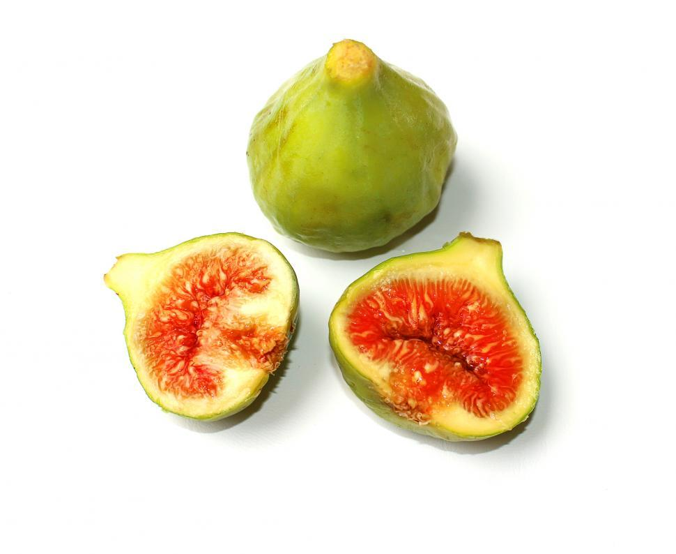 Download Free Stock Photo of Ripe figs on a white background