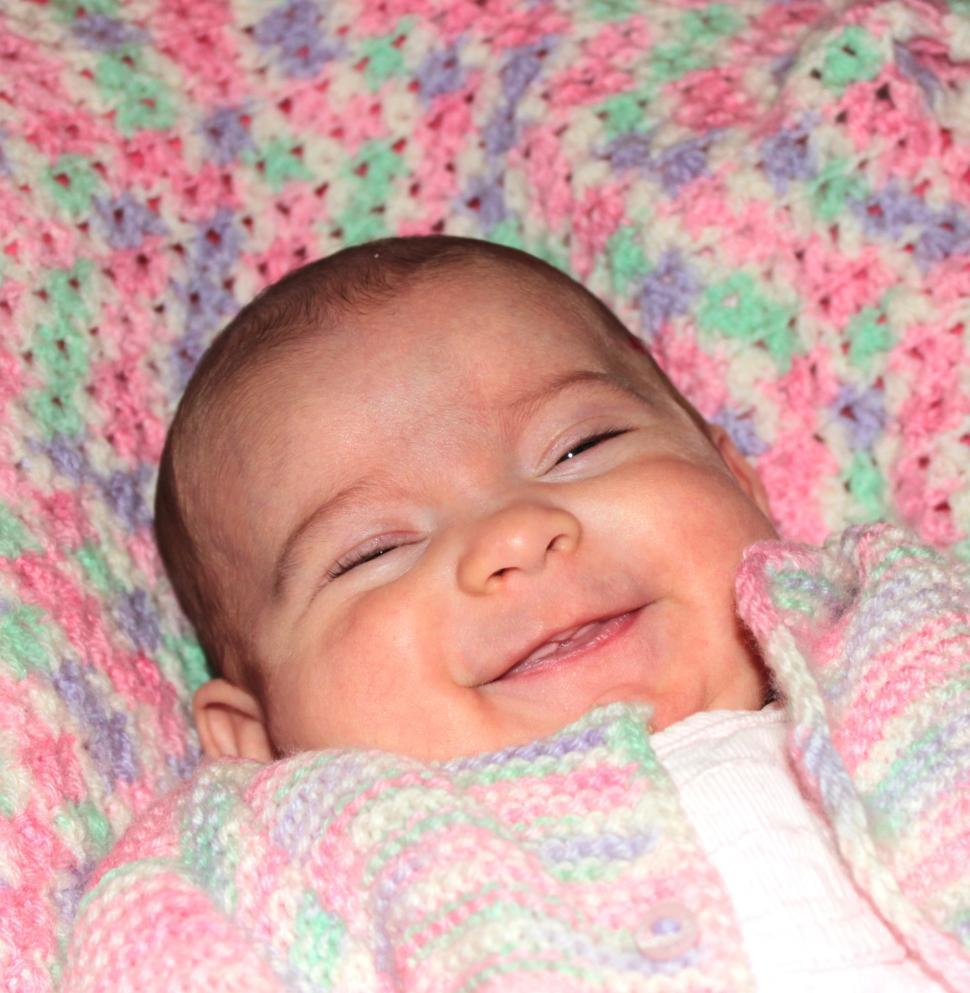 Download Free Stock HD Photo of Close-up portrait of a happy baby smiling Online