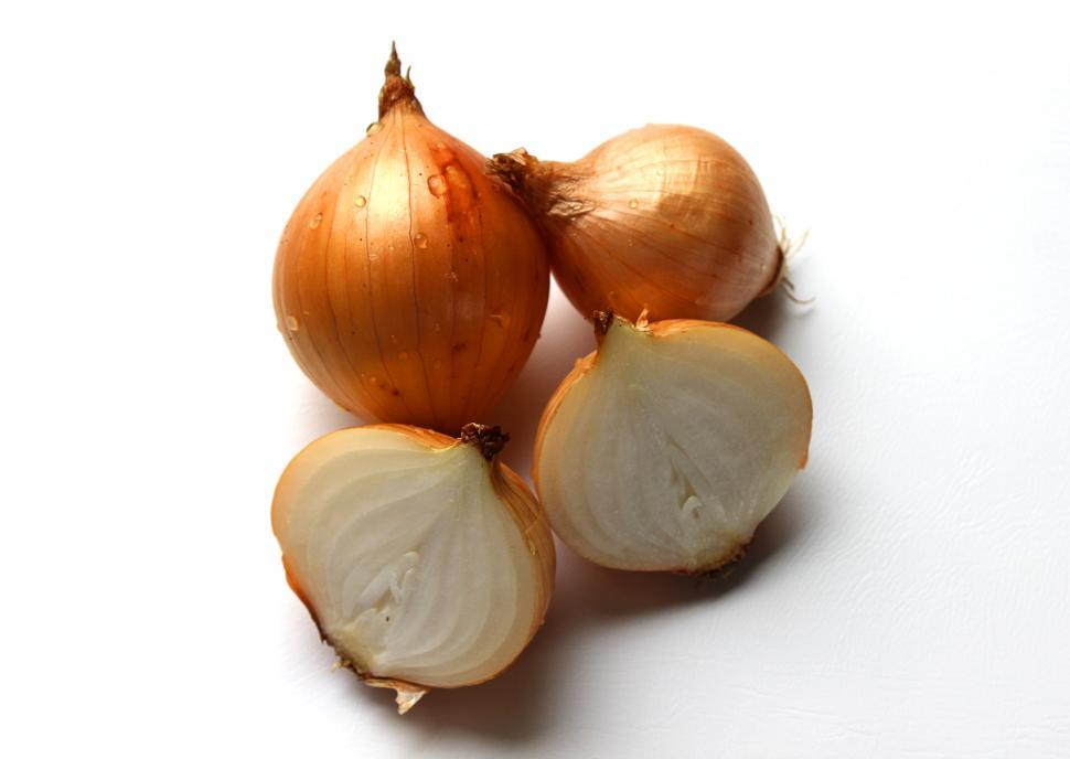 Download Free Stock HD Photo of Fresh onion bulbs isolated on white background Online