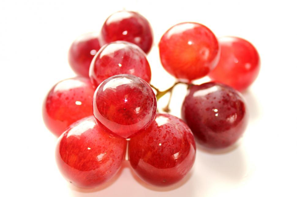 Download Free Stock Photo of Red Globe grapes isolated on white background