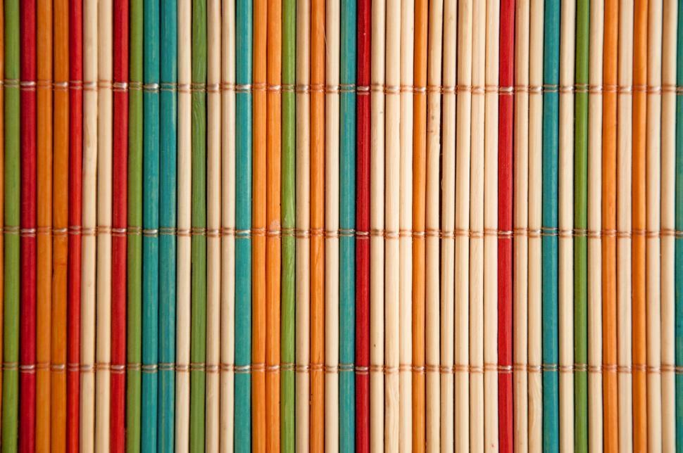 Download Free Stock HD Photo of coloured bamboo mat Online