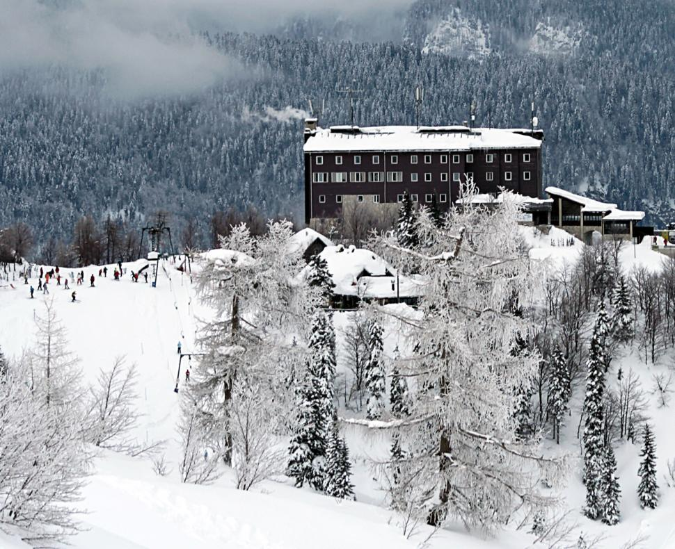 Download Free Stock Photo of Ski hotel